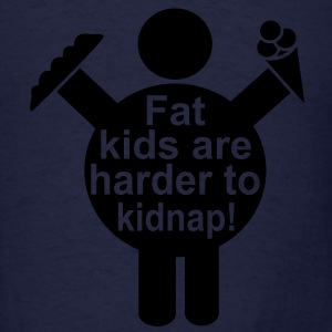 Fat Kids are harder to kidnap! Vector Design Long Sleeve Shirts - Men's T-Shirt