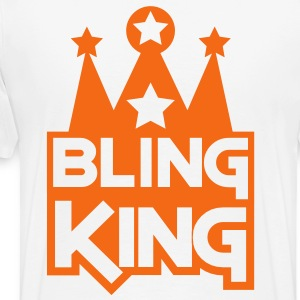 BLING KING with crown and stars Hoodies - Men's Premium T-Shirt