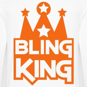 BLING KING with crown and stars Hoodies - Men's Premium Long Sleeve T-Shirt