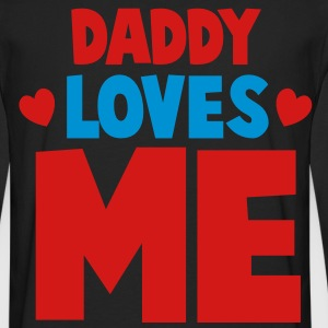 DADDY LOVES ME with little hearts Hoodies - Men's Premium Long Sleeve T-Shirt