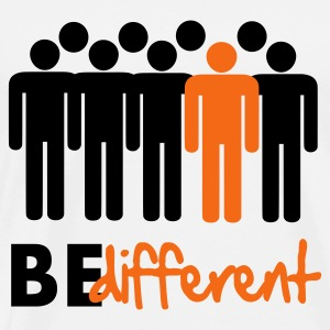 Be different Vector Design Hoodies - Men's Premium T-Shirt