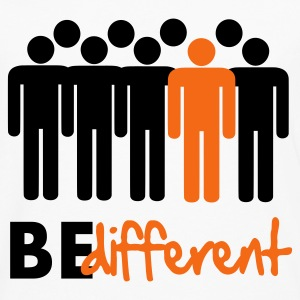 Be different Vector Design Hoodies - Men's Premium Long Sleeve T-Shirt