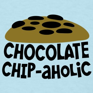 chocolate chipaholic (with choccy chip cookie) Baby Bodysuits - Men's T-Shirt