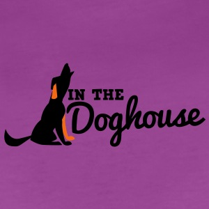 howling dog in the doghouse Baby Bodysuits - Women's Premium T-Shirt