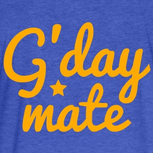 g'day mate (hello chap) Sweatshirts - Fitted Cotton/Poly T-Shirt by Next Level