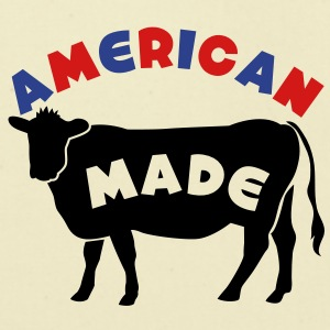AMERICAN MADE beef cow T-Shirts - Eco-Friendly Cotton Tote