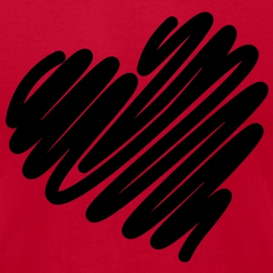 Heart +(10% Off Coupon) - Men's T-Shirt by American Apparel