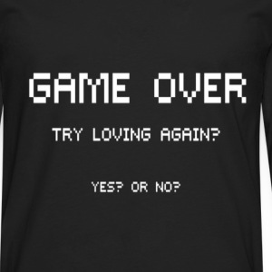 GAME OVER. T-Shirts - Men's Premium Long Sleeve T-Shirt