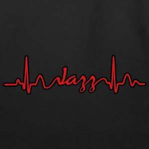 Lines of Heart electrocardiogram heart pulse Jazz T-Shirts - Eco-Friendly Cotton Tote