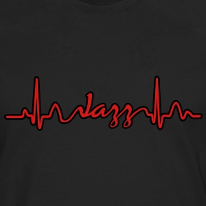 Lines of Heart electrocardiogram heart pulse Jazz T-Shirts - Men's Premium Long Sleeve T-Shirt