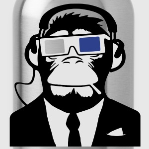 3D Ape Monkey Club Electro Motive Headphones  T-Shirts - Water Bottle