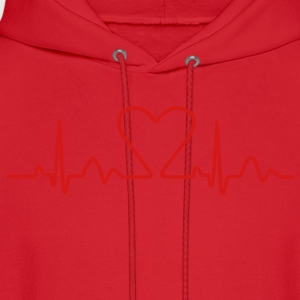 Lines of Heart electrocardiogram heart pulse heart, loving couples, Valentine's Day T-Shirts - Men's Hoodie