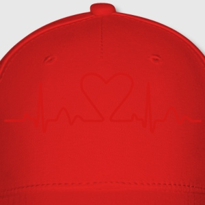 Lines of Heart electrocardiogram heart pulse heart, loving couples, Valentine's Day T-Shirts - Baseball Cap