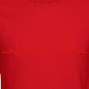 Lines of Heart electrocardiogram heart pulse heart, loving couples, Valentine's Day T-Shirts - Crewneck Sweatshirt