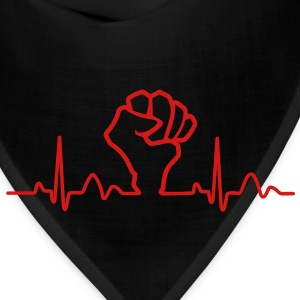 Lines of Heart Fist electrocardiogram heart pulse T-Shirts - Bandana