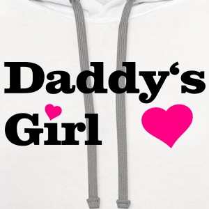 Daddy's Girl I Love Dad daddy i heart Women's T-Shirts - Contrast Hoodie