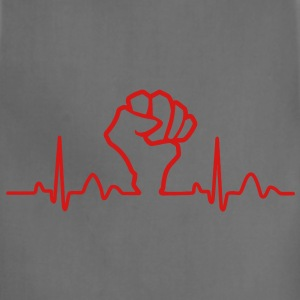 Lines of Heart Fist electrocardiogram heart pulse T-Shirts - Adjustable Apron