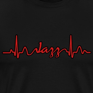 Lines of Heart electrocardiogram heart pulse Jazz Hoodies - Men's Premium T-Shirt