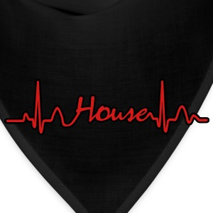 Lines of Heart House Music electrocardiogram heart pulse Hoodies - Bandana