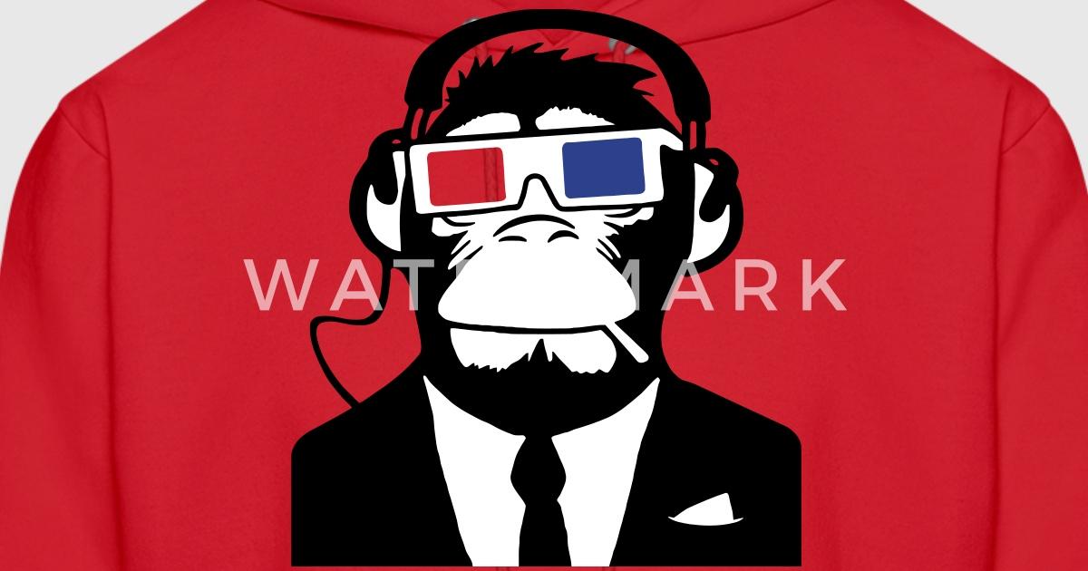 3d ape monkey club electro motive headphones hoodies mens hoodie - Hoodie Design Ideas