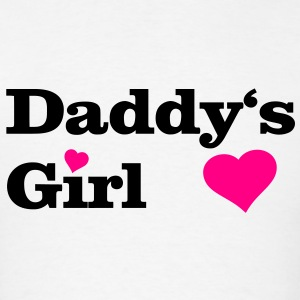 Daddy's Girl I Love Dad daddy i heart Hoodies - Men's T-Shirt