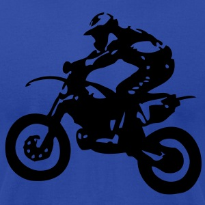 Motocross driver motorbike machine race Tanks - Men's T-Shirt by American Apparel
