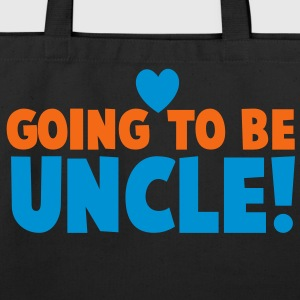 GOING TO BE UNCLE with love heart newborn uncle's shirt Long Sleeve Shirts - Eco-Friendly Cotton Tote