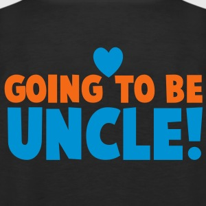 GOING TO BE UNCLE with love heart newborn uncle's shirt Long Sleeve Shirts - Men's Premium Tank