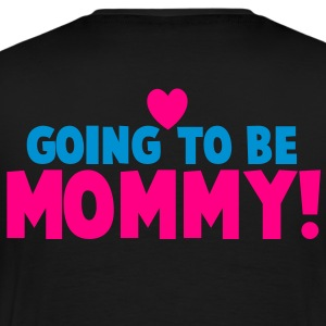 GOING TO BE MOMMY! with cut love heart pregnant and loving it! Long Sleeve Shirts - Men's Premium T-Shirt