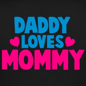 DADDY LOVES MOMMY parent shirt Long Sleeve Shirts - Men's Premium T-Shirt