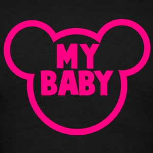 MY BABY in a teddy bear shape Long Sleeve Shirts - Men's T-Shirt