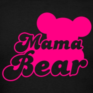 MAMA bear (new) with teddy bear shape  Long Sleeve Shirts - Men's T-Shirt