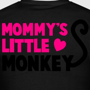 MOMMY's little monkey with a cute little tail Long Sleeve Shirts - Men's T-Shirt