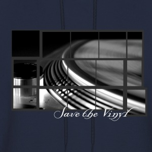 Save the vinyl record turntable for DJs and Lovers Artwork T-Shirts - Men's Hoodie