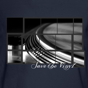 Save the vinyl record turntable for DJs and Lovers Artwork T-Shirts - Men's Long Sleeve T-Shirt