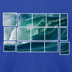 Big Wave Artwork Hoodies - Men's T-Shirt by American Apparel