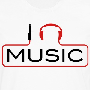 I love music plug headphones sound bass beat catch cable music i love techno minimal house club dance dj discjockey electronic electro Kids' Shirts - Men's Premium Long Sleeve T-Shirt