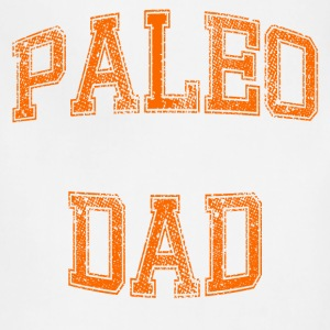 Paleo Dad Men's T-Shirt (Orange Logo) - Adjustable Apron