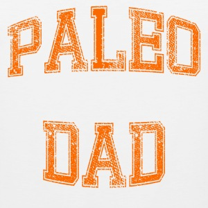 Paleo Dad Men's T-Shirt (Orange Logo) - Men's Premium Tank