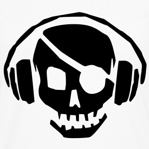 A dead skull/skeleton wearing headphones listening to the pulse and beats T-Shirts - Men's Premium Long Sleeve T-Shirt