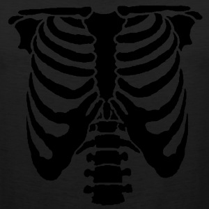 A Human rib cage great for Halloween events and sc - Men's Premium Tank