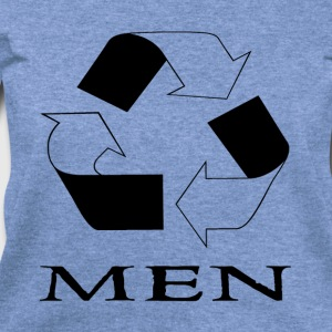 Recycle Men Black T-Shirts - Women's Wideneck Sweatshirt