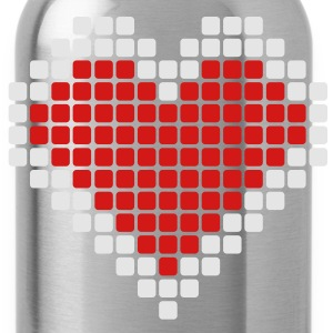Pixel Heart T-Shirts - Water Bottle