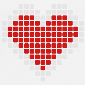 Pixel Heart Buttons - Men's Premium T-Shirt