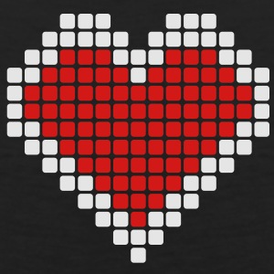 Pixel Heart Women's T-Shirts - Men's Premium Tank