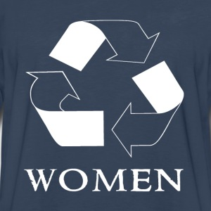 recycle women white Hoodies - Men's Premium Long Sleeve T-Shirt