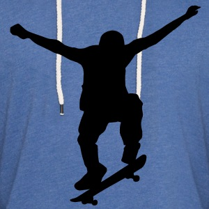 skater silhouette T-Shirts - Unisex Lightweight Terry Hoodie