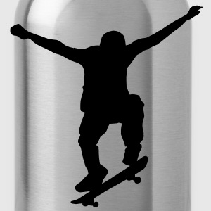 skater silhouette T-Shirts - Water Bottle