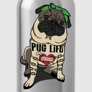 Pug Life Tee - Water Bottle