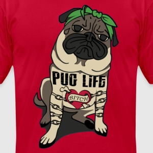 Pug Life Hoodie - Men's T-Shirt by American Apparel